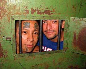 Inmates in Quezaltepeque prison